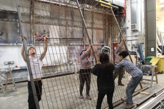 moving steel cage