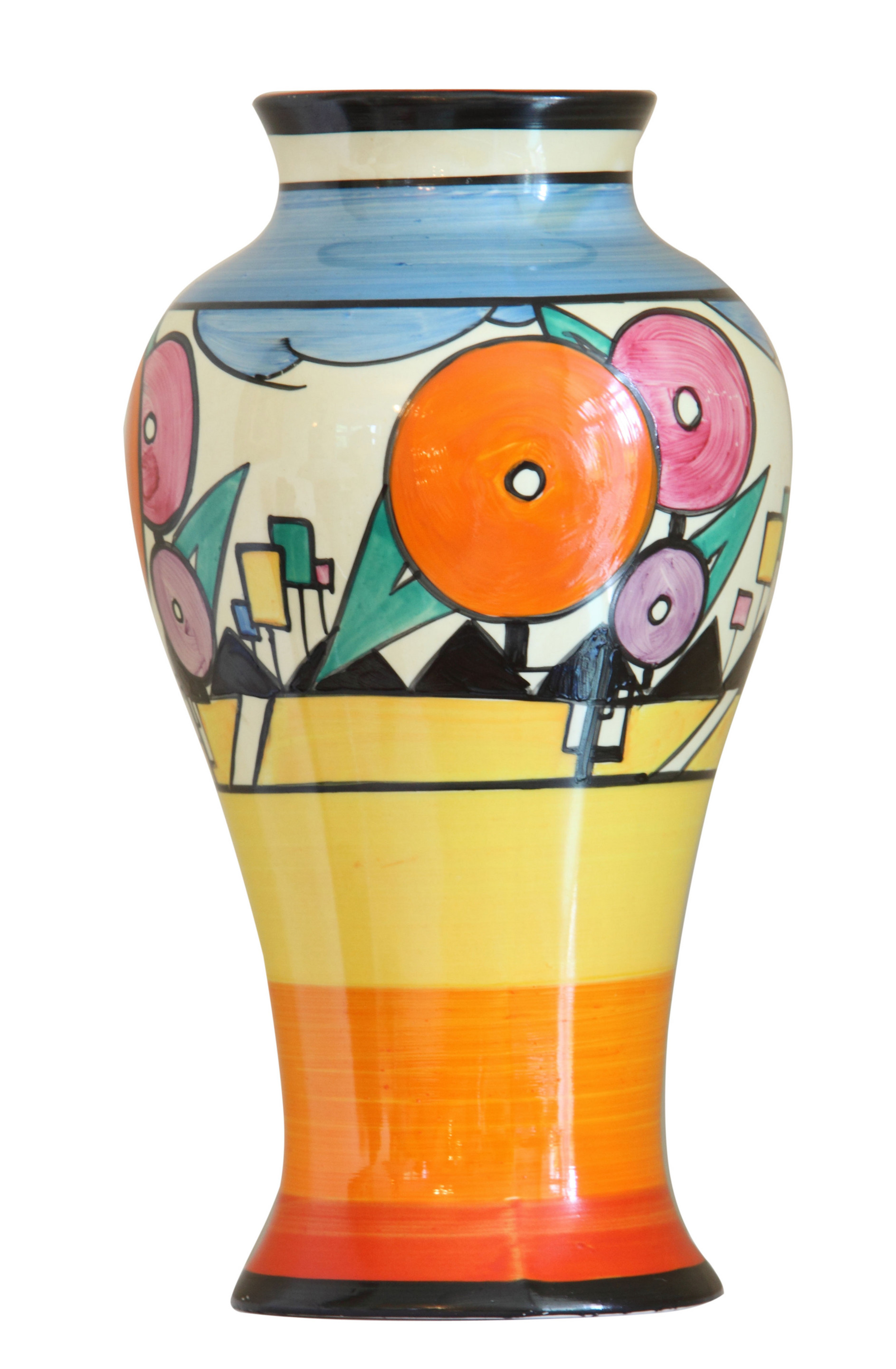 a rare art deco vase by clarice cliff design realisation scenic art scenic construction and. Black Bedroom Furniture Sets. Home Design Ideas